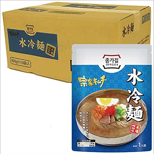 水冷麺 韓国冷麺 冷麺 10袋 セット 細麺 麺 コシ 牛だし スープ 韓国 韓国料理 人気 本場の味