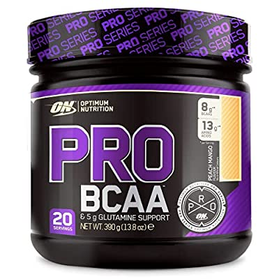 Optimum Nutrition ON PRO BCAA, Amino Acid Powder with Glutamine, Peach Mango, 390 g, 20 Servings