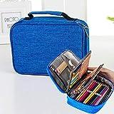 Estuche grande impermeable para lápices de 72 colores de gran capacidad, bolsa para lápices de dibujo (color: azul)