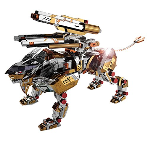 SM SunniMix 323 Pieces Lion 3D Assembly Metal Model DIY Mobility Miniature Model Kits Puzzle Toys