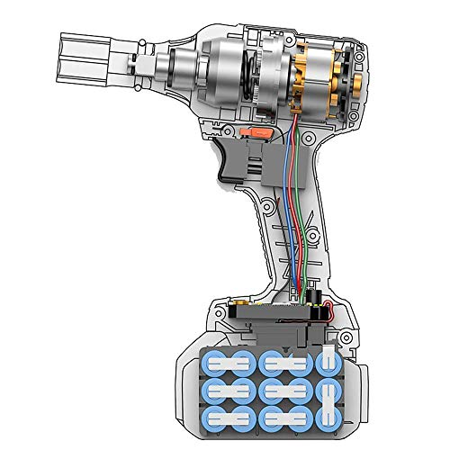 XDXDO Llave De Batería De Litio 2 En 1 Llave De Impacto Portátil Profesional De 21 V, Torque Alto De 380 NM, 2 Juegos De Baterías De 2000 Ma, Utilizadas para Quitar Tuercas