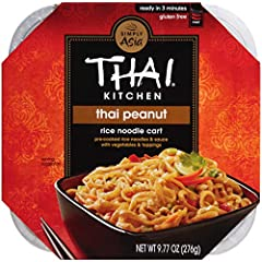Traditional Thai recipe features peanuts, vegetables and crunchy toppings FUN FACT: Get in touch with your inner chef and stir in cooked chicken, shrimp, scrambled egg or tofu! Gluten free Steamed rice noodles, not fried Easy microwavable meal ready ...