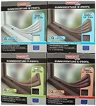 Braun wei/ß EPDM-Gummidichtung und Schaumstoff-Zugluftstopper Stormguard B009XDZBRC P-Profil f/ür Fenster oder T/ür 10 m