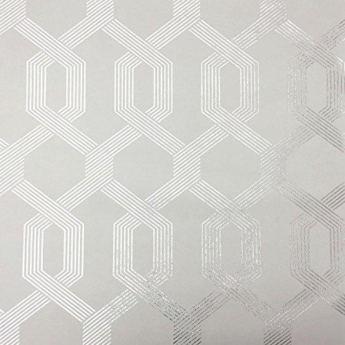 York Wallcoverings Y6221204 Mid Century Viva Lounge Wallpaper, White/Off Whites
