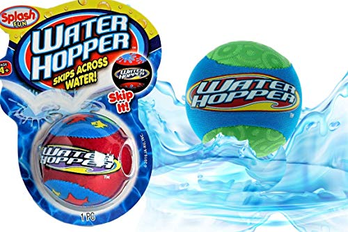 Pro Hopper Skip Water Bouncing Ball (1 Pack Assorted) by JA-RU. Professional Fidget Skip Ball Pool Bounce Balls Toys. Skipping Beach Ball. Party Favor Pool Toy for Kids and Adults Style A 880-1p
