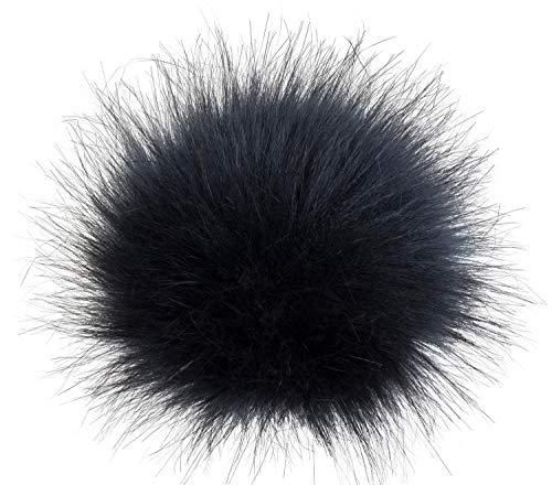 styleBREAKER Kunstfell Bommel für Mützen und Beanies, Fake Fur, Winter Fellbommel 04024161, Farbe:Dunkelblau