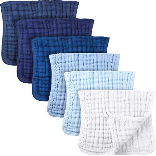 Irenare 6 Pieces Muslin Burp Cloths Muslin Washcloths Baby Burping Cloth...
