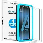 OMOTON [Lot de 4 Verre Trempé pour Samsung Galaxy A40 [Kit d'Installation] Protection Ecran en Verre pour Samsung Galaxy A40 [Clarté Cristale] Film de Protection [9H Dureté]