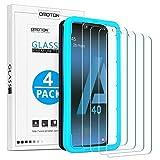 OMOTON Protector Pantalla Samsung Galaxy A40 Cristal Templado, Samsung Galaxy A40 Protector de Pantalla 2.5D, Anti-arañazos, Definición HD, No Burbujas, 4 Piezas