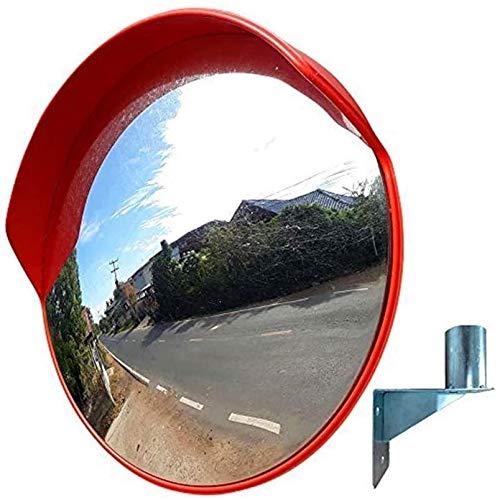 HQY verkeer in de vrije natuur, groothoeklens, verkeersstraatspiegel, oranje sferische spiegel, hoek, gebogen spiegel, convexe lens, supermarkt, straat, die diefstalveilige spiegel draait. 60cm
