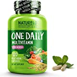 NATURELO One Daily Multivitamin for Women - Best for Hair, Skin Nails - Natural Energy Support - Whole Food Supplement -...