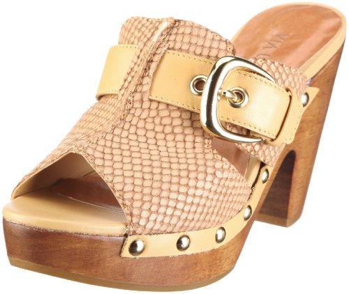 VIA UNO Leather-Abrasivato Soft 21051602, Damen, Sandalen/Fashion-Sandalen, Gelb (Straw), EU 39