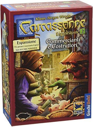 Giochi Uniti Carcassonne 3 Commercianti e Costruttori - Juego de Mesa (versión en Italiano) [Importado de Italia]
