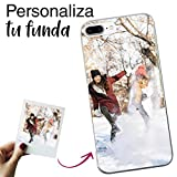 Mookase Funda para iPhone 8 Plus / 7 Plus Personalizada para TU MÓVIL con Imagen O Texto, Carcasa Personalizable, Gel Flexible, Borde Trasparente, Regalo Original