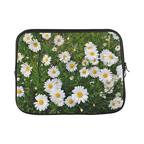 Design Custom Daisy Flower Spring Marguerite Plant Bloom Sleeve Soft Laptop Case Bag Pouch Skin for MacBook Air 11'(2 Sides)