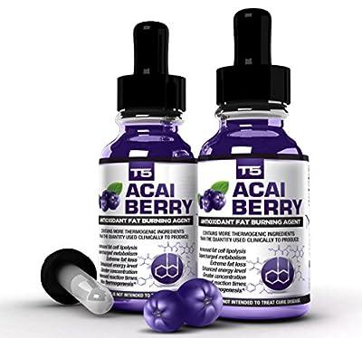 x2 Super Strength Acai Berry Serum: Powerful T5 & Acai Berry Blend: Advanced Diet Pill Alternative (2 Month Supply)