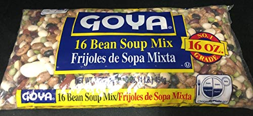 Goya 16 Bean Soup Mix 16 Oz. Pack Of 3.