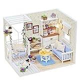 XZJJZ Puppenhaus aus Holz Möbel-Set, handgemachte Mini Modernen Duplex Haus Modell Puzzle Kreative Puppenhaus Spielzeug for Kinder Geschenk