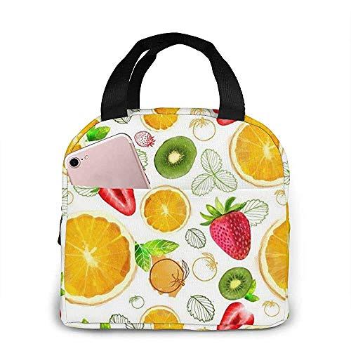 Bolsa de almuerzo portátil con aislamiento de limón, frutas y pícnic, caja para mujeres, hombres, trabajo universitario, senderismo, playa, pesca