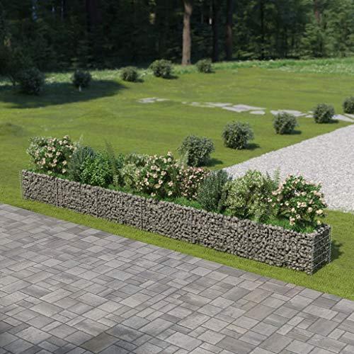 UnfadeMemory Jardinera Exterior,Gaviones de Piedra,Muro de Gaviones,Decorativos para Jardin...