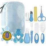 Lictin Set per la Cura del Bambino - Beauty BabyCare - Calibro, pettine, spazzolino da denti, dispositivo di aspirazione nasale e altri accessori (azzurro)