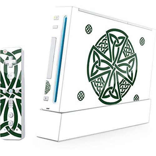 Skinit Decal Gaming Skin Compatible with Wii (Includes 1 Controller) - Originally Designed Celtic Cross on White Design