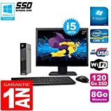 Lenovo Ultra Mini PC M73 Usff Tiny I5-4570 8 GB 120 GB SSD WiFi W7 Pantalla 27 Pulgadas