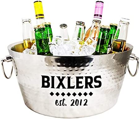 BREKX Personalized Hammered Stainless Steel Double Walled Insulated Anchored Beverage Chiller product image