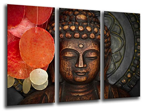 Wandbild - Buddha, Buddha, Entspannung, Zen, Meditation, Entspannung, 97 x 62 cm, Holzdruck - XXL Format - Kunstdruck, ref.26007