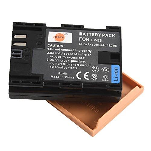 DSTE Rechange Batterie pour Canon LP-E6 LP-E6N EOS 5D Mark II EOS 5D Mark III EOS 5DS EOS 5DS R EOS 6D EOS 7D EOS 60D EOS 60Da EOS 70D 7D markII 7D markIII