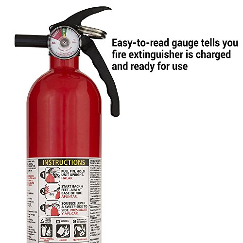 Kidde FA110 Multi Purpose Fire Extinguisher 1A10BC, 6-pack