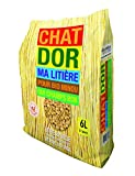 Miscanthus Green Care – Chatdor – arena de granulado de paja de cebada para gato, 6 litros