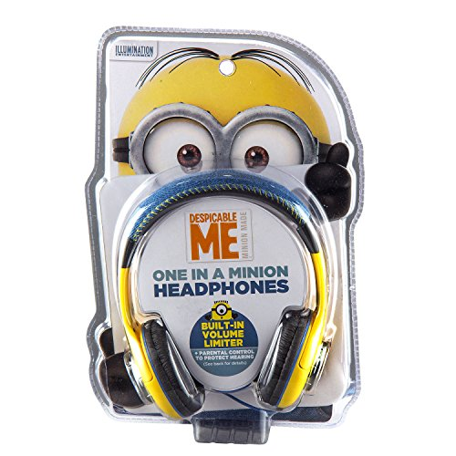 Despicable Me Minions Kid Friendly Headphones with Built in Volume Limiting Feature for Safe Listening