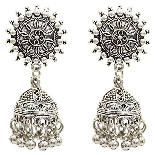 Cikuso Ethnische Indische Vogel K?fig Ohrringe Frauen Antik Silber ?gyptischen H?ngenden Ohrringe Vintage Retro Boho Stil Alten Schmuck Stil A