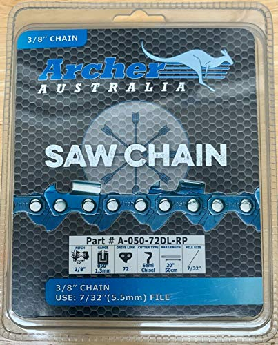 Archer 20' 3/8-050-72DL Ripping Chainsaw Chain Replaces 72RD072G A1EP-RP-72E