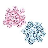 Heiqlay Botones Niños, Botones Baby Botones Redondos para Cardigans de bebé Tejer para Tejer, Coser o Hacer Manualidades Decorativas (96 Piezas, Rosa, Azul, 12,5 mm)