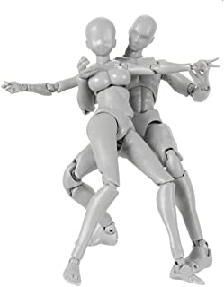 Tulas 2 Pcs Action Figure Drawing Models,Man & Women Drawing Mannequin Body Kun Doll Body-Chan Male/Female Action Figure DX Set with Accessories Kit, Suitable for Sketching, Painting, Drawing, Artist.