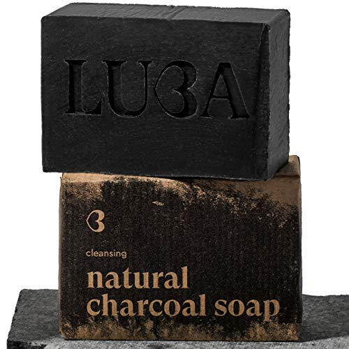 Jabón Negro con Carbón Activado 113 Gram - 100% Natural, Hecho a Mano, Vegano, Jabón Para Manos Orgánico   Perfecto Para El Tratamiento Del Acné (Lavado Facial y Corporal Para El Acné)   UE