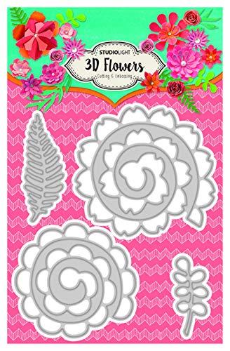 LHZUS Muelles de Corte de Metal Flor 3D DIY Scrapbooking Álbum de Fotos Decorativo en Relieve Papercard Crafts Die (Color : Light Grey, Size : XS)