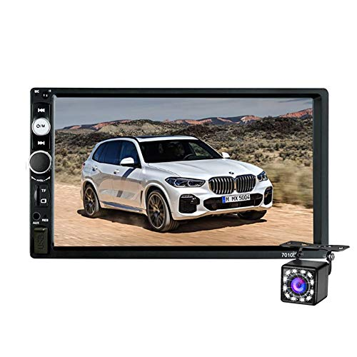 2 Din Autoradio Bluetooth, 7 Zoll HD Touchscreen Auto Stereo MP3/ MP4/ MP5 Player, Autoradio Unterstützung SD/USB/AUX, FM Radio,mit Fernbedienung und Rückfahrkamera