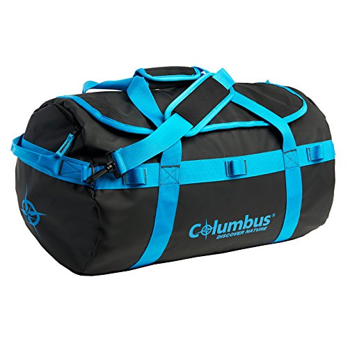 COLUMBUS Baltoro dufflebag 45L Schlafsack, Schwarz/Blau, 45 Liter