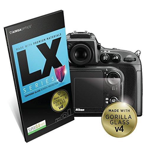 Nikon Camera DSLR Screen Protector [Gorilla Optical Glass 4] Premium LX Series 0.4mm Thick   for Nikon D7200 / D600 / D610 / D800 / D800e / D810 / D850 / D750 / DF / D4s