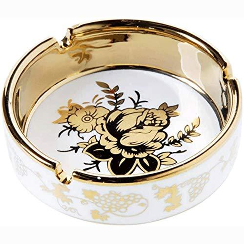 Preisvergleich Produktbild TWDYC Europäischer runde Keramikaschenbecher Desktop Zigarette Aschenbecher Speicher Aschenbecher Büro Haushaltswaren Raucher