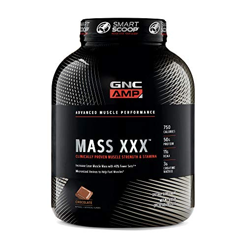 GNC AMP Mass XXX, Chocolate, 6.2 lb(s), Supports Muscle Protein Synthesis
