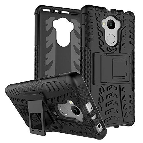 XMT Xiaomi Redmi 4,Redmi 4 PRO,Redmi 4 Prime Custodia,2 in 1 Silicone TPU e Hard PC Case Cover Dual Armatura Bumper Case Telefono Protettiva Custodia per Xiaomi Redmi 4 Smartphone (Nero)
