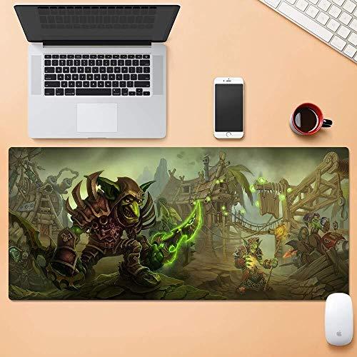 CFTGB Gaming Mouse Pad Grote Muis Mat Wereld van Warcraft WOW Goblin Race Game Toetsenbord Mat Uitgebreide Mousepad voor Computer PC Mouse Pad