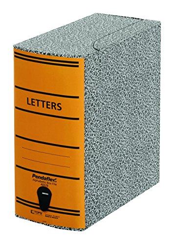 Pendaflex 40578 File Storage Box, Letter, Binder Board, Black/Orange