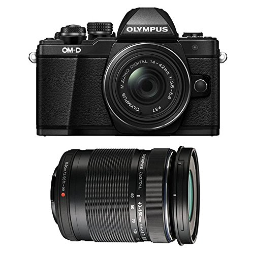 Olympus OM-D E-M10 Mark II Mirrorless Camera w/ 14-42mm EZ & 40-150 F4.0-5.6R Bk