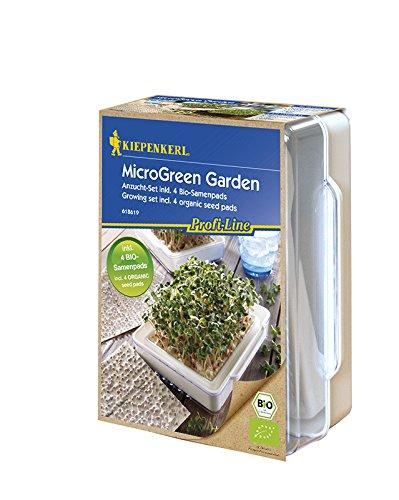 Kiepenkerl MicroGreen Garden Anzucht-Set inkl. 4 Bio-Samenpads