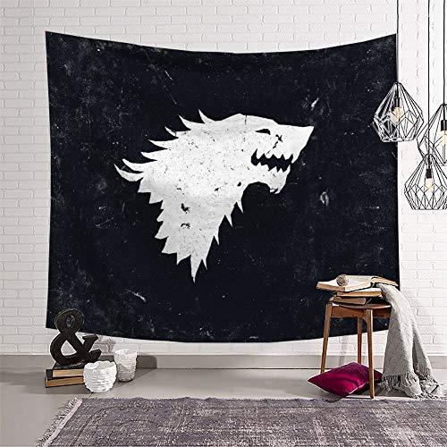 KOREYOSHIX Juego de Tronos TV Series Tapiz para colgar en la pared, toalla de playa, decoración de dormitorio, 150 x 130 cm
